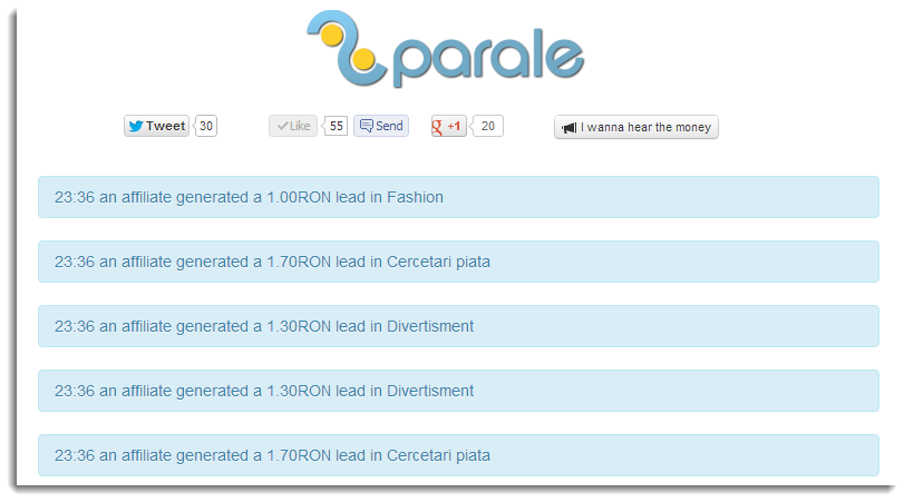 2Parale real time commission stats