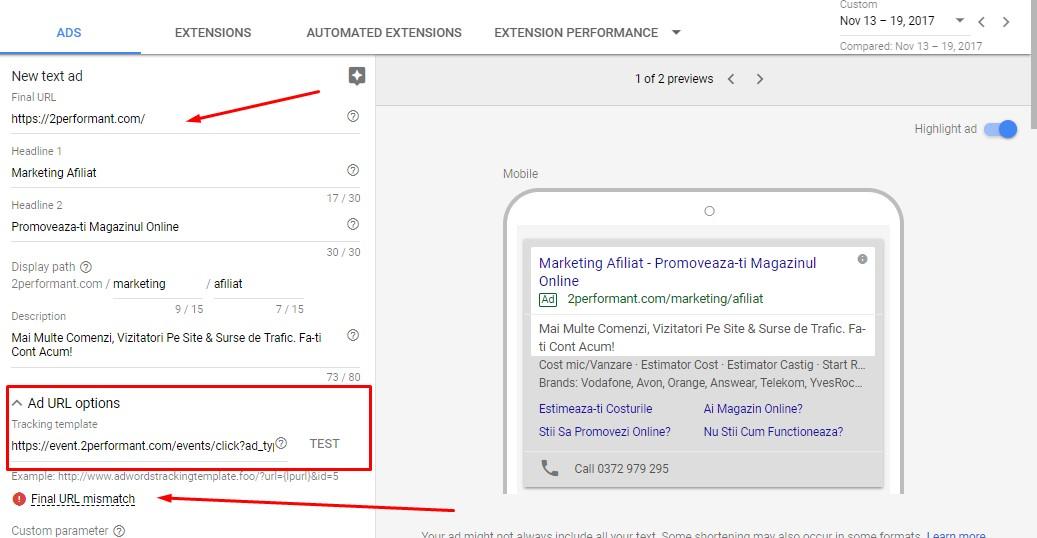 affiliate marketing adwords ad